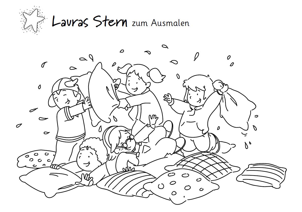 ausmalbilder unserer kinderbuchhelden  boje und baumhaus